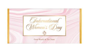 Pink Marble International Womens Day Personalised Chocolate Bar