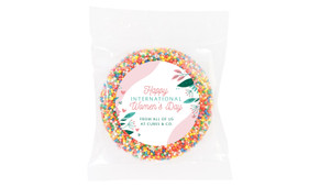 Fun Floral Personalised Womens Day Giant Chocolate Freckle