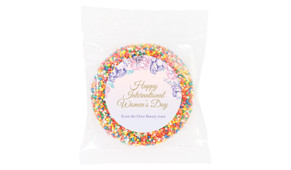 Lilac Personalised Womens Day Giant Chocolate Freckle