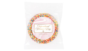 Pink Marble Personalised Womens Day Giant Chocolate Freckle