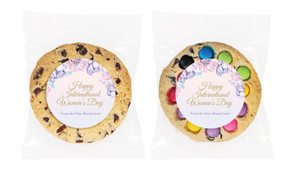Lilac International Womens Day Personalised Cookie