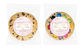 Pink Marble International Womens Day Personalised Cookie