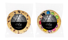 Add A Photo - Black Personalised Wedding Cookie