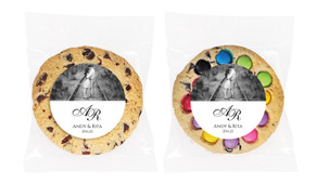 Add A Photo - White Personalised Wedding Cookie