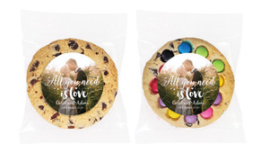 All You Need Is Love Personalised Wedding Cookie
