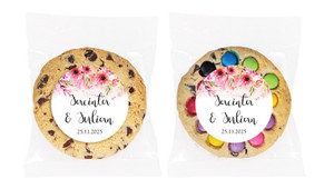 Cascading Flowers Personalised Wedding Cookie