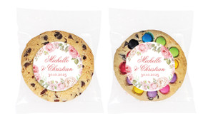 Classic Rose Border Personalised Wedding Cookie