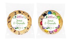 Hydrangea Personalised Wedding Cookie