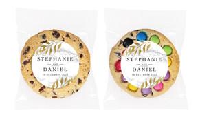 Marble & Fern Personalised Wedding Cookie