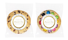 Marble & Gold Personalised Wedding Cookie