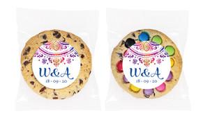 Radiant Mandala Personalised Wedding Cookie