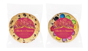 Regal Pink And Gold Personalised Wedding Cookie
