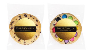 Solid Gold Personalised Wedding Cookie