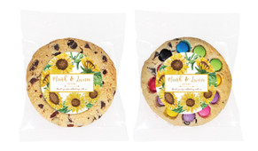 Sunflower Personalised Wedding Cookie