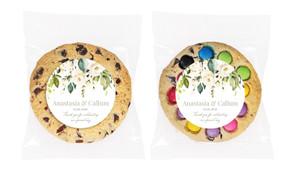 Wild Flowers Light Personalised Wedding Cookie