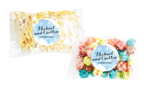 A Splash Of Watercolour - Blue Personalised Popcorn Bag
