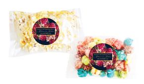 Bold Floral Personalised Popcorn Bag