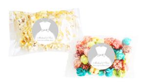 Bride & Groom Dress Personalised Popcorn Bag