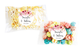 Cascading Flowers Personalised Popcorn Bag