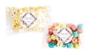 Coral Flowers Personalised Popcorn Bag