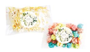 Diamond On White Roses Personalised Popcorn Bag
