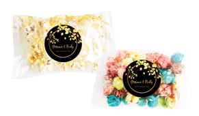 Gold Leaves Personalised Popcorn Bag