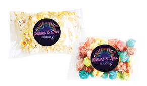 Neon Rainbow Personalised Popcorn Bag