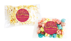 Regal Pink And Gold Personalised Popcorn Bag