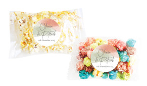 Sage And Blush Confetti Personalised Popcorn Bag
