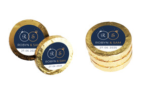 Diamond Ring Wedding Chocolate Coins (Gold Or Silver)