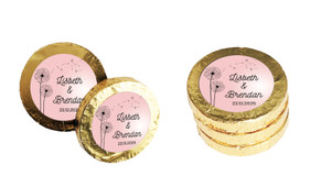 Floating Dandelion Wedding Chocolate Coins (Gold Or Silver)