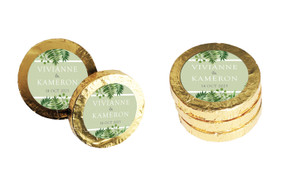 Forest Frame Wedding Chocolate Coins (Gold Or Silver)
