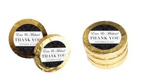 Timeless Damask Wedding Chocolate Coins (Gold Or Silver)
