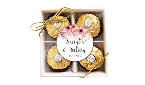 Cascading Flowers Personalised Ferrero Rocher Gift Box
