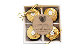 Fingerprint Heart Personalised Ferrero Rocher Gift Box