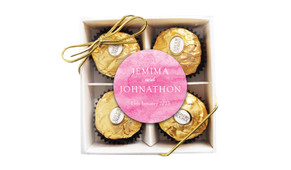 Pink Ombre Personalised Ferrero Rocher Gift Box