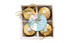 Spring Monogram Personalised Ferrero Rocher Gift Box