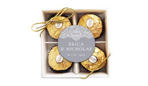 Vintage Lace Personalised Ferrero Rocher Gift Box