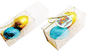 Happy Easter  Egg Slide Box With Swing Tag