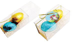 Overflowing Eggs Easter Egg Slide Box With Swing Tag