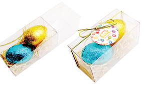 Watercolour Eggs Easter Egg Slide Box With Swing Tag