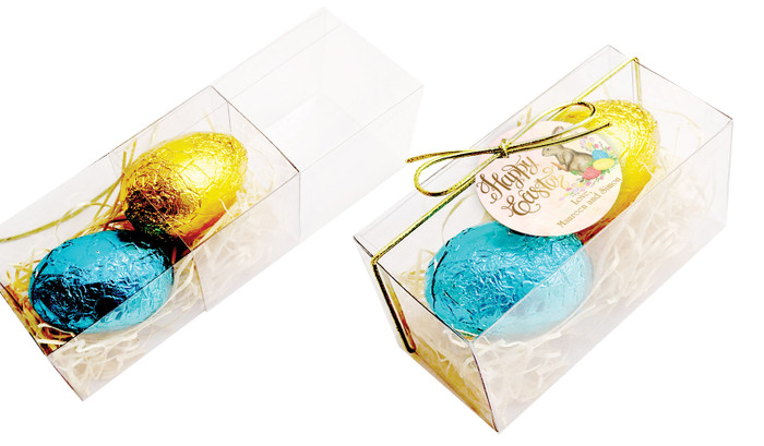Beautiful Bunny Easter Egg Slide Box With Swing Tag