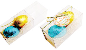 Cute And Colourful Easter Egg Slide Box With Swing Tag
