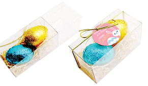 Funny Bunny Easter Egg Slide Box With Swing Tag