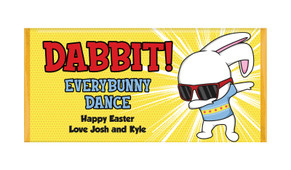 Dabbing Bunny Personalised Easter Chocolate Bars