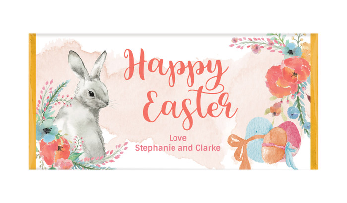 Floral Corners Personalised Easter Chocolate Bars