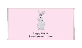 Watercolour Bunny Personalised Easter Chocolate Bars