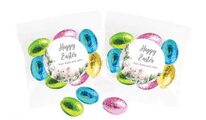 Bunny Kiss Personalised Bag Of Easter Eggs