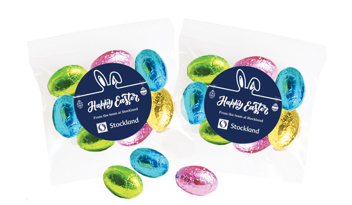 Corporate Personalised Bag Of Easter Eggs