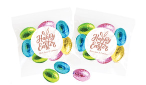 Rose Gold Personalised Bag Of Easter Eggs